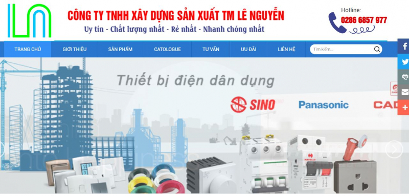 Công ty TNHH xây dựng sản xuất thương mại Lê Nguyễn