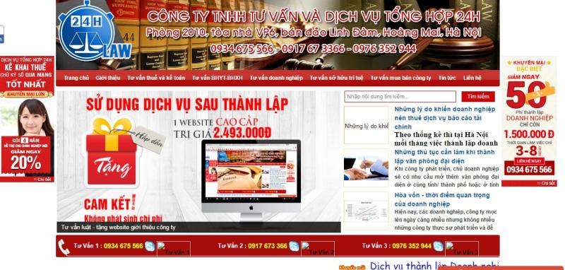 Website của Công ty Tư Vấn và Dịch vụ Tổng hợp 24H