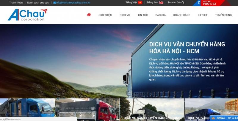 Website của Công ty vận chuyển Á Châu