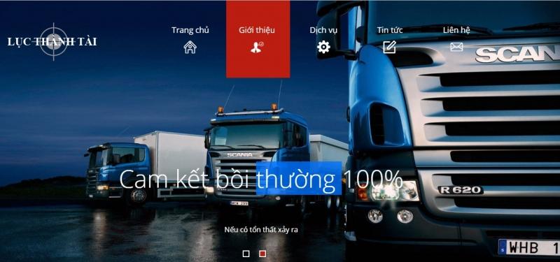Website của Công ty Vận tải Lục Thành Tài