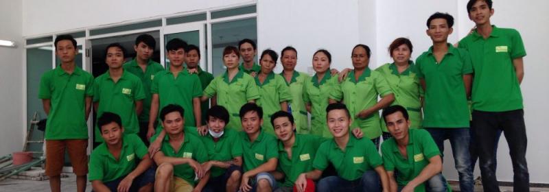 Đội ngũ nhân viên của công ty vệ sinh công nghiệp Thịnh Phát