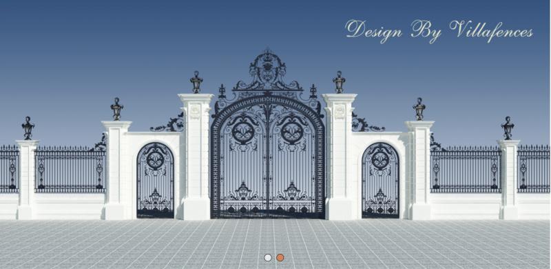 Cổng và hàng rào sắt mỹ thuật - Sản phẩm của Công ty Villafences