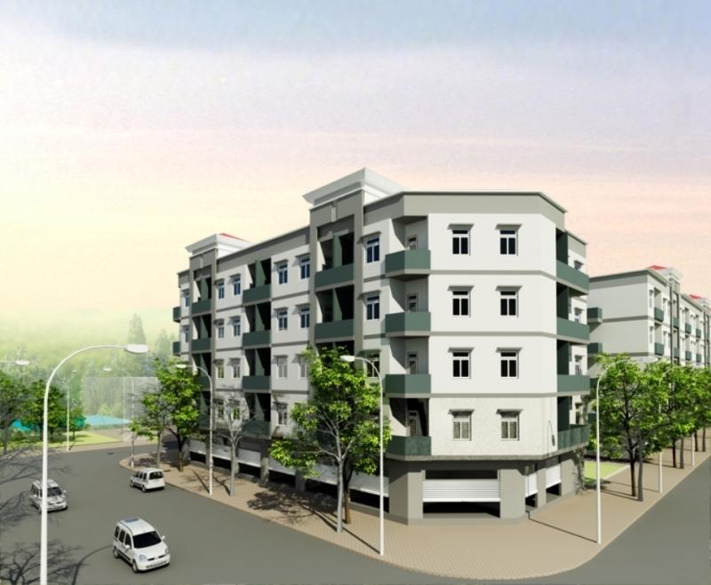 Một mô hình chung cư của công ty xây dựng hạ tầng KCN Cần Thơ