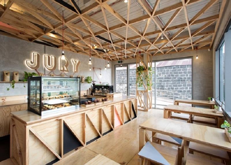 Một quán cafe theo phong cách hiện đại