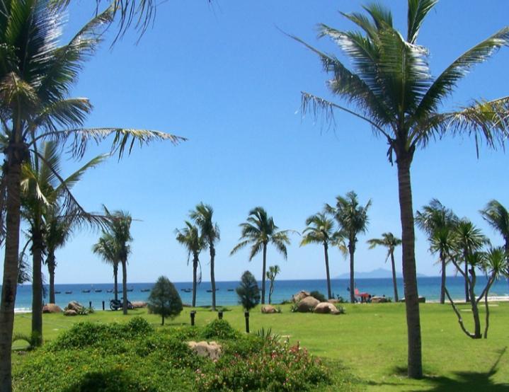 Khung cảnh nên thơ tại công viên biển Phạm Văn Đồng