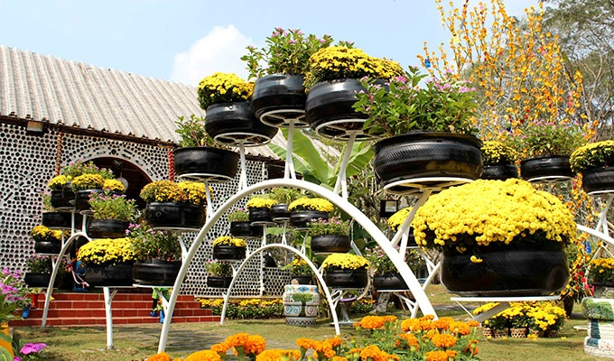 Một góc trưng bày của công viên Lê Văn Tám năm 2026