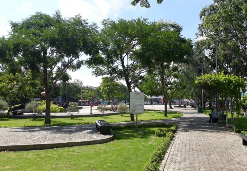 Không gian khoáng đãng ở công viên Lưu Hữu Phước