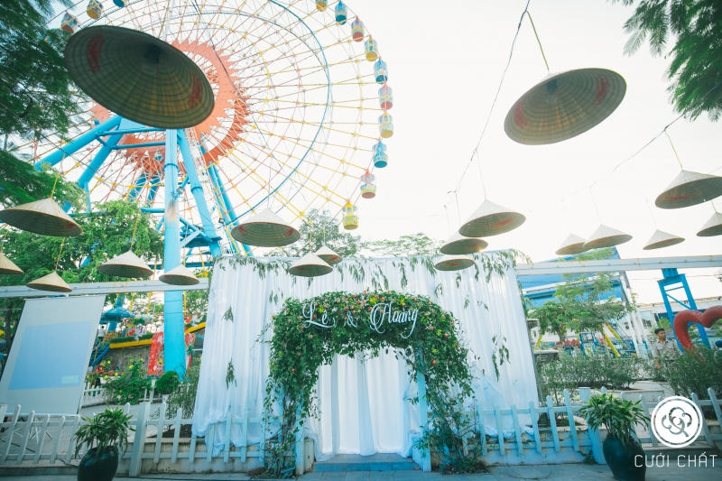 Đám cưới tại công viên nước Hồ Tây