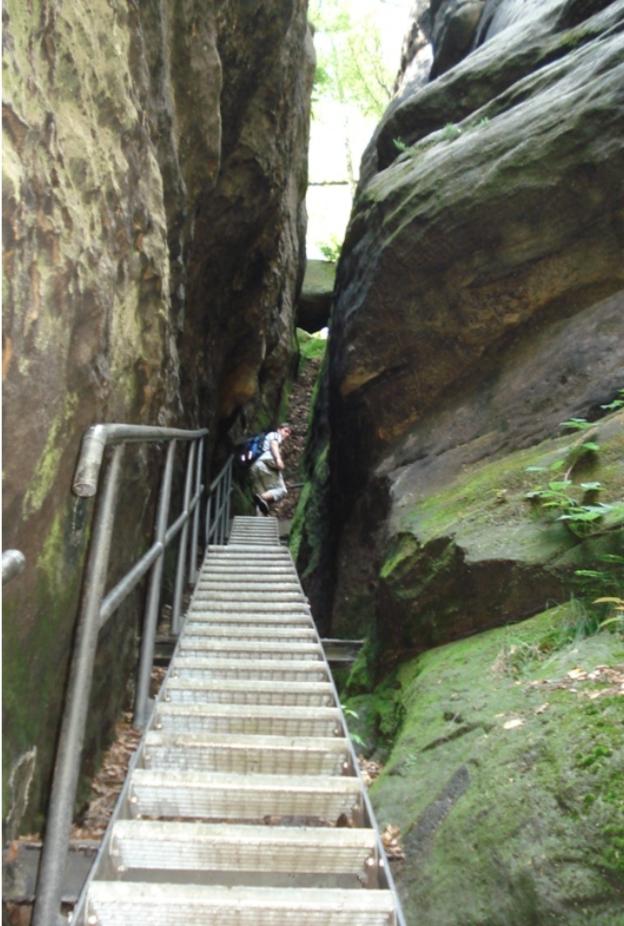 Một lối đi men vách đá trong công viên quốc gia Thụy Sĩ Saxon