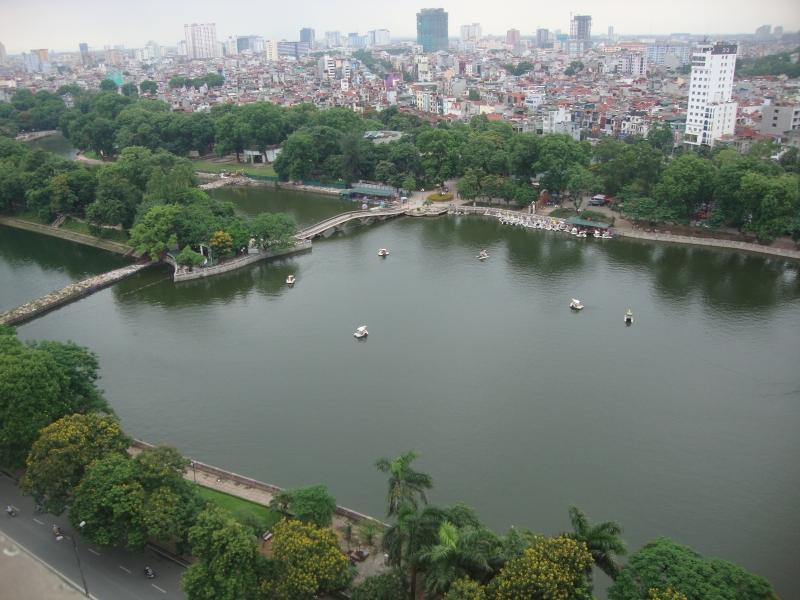 Một phần công viên Thủ Lệ nhìn từ trên cao