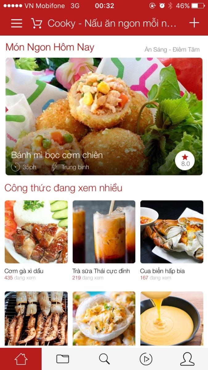 Cooky – Nấu ngon mỗi ngày: iOS/Android