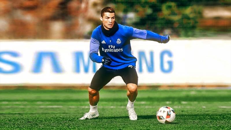 Ronaldo có một thân hình hoàn hảo trong môn bóng đá