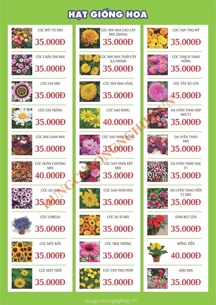 Cửa hàng bán hạt giống hoa ở TPHCM