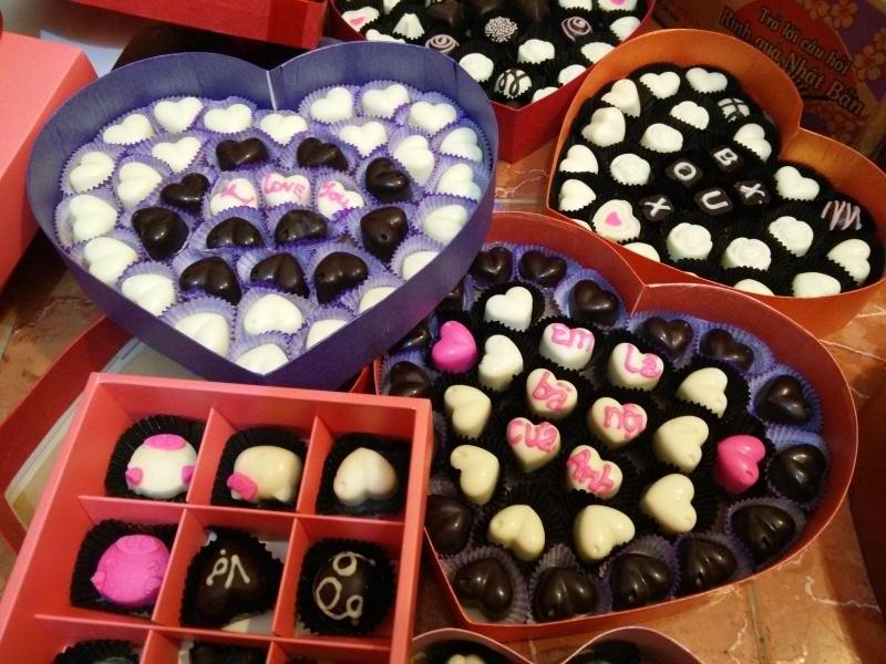 những chiếc sô cô la vô cùng đẹp mắt của Cửa hàng Mai Anh