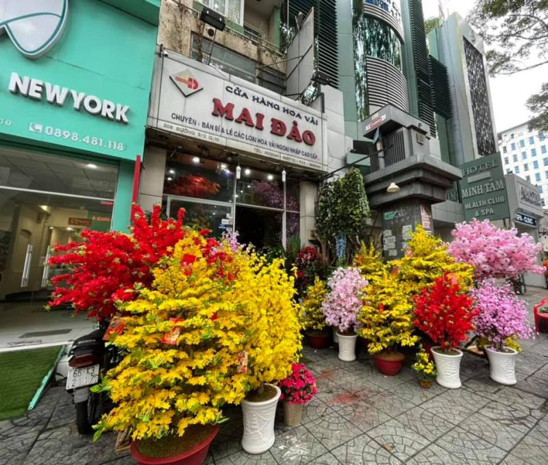 Cửa hàng hoa vải Mai Đào