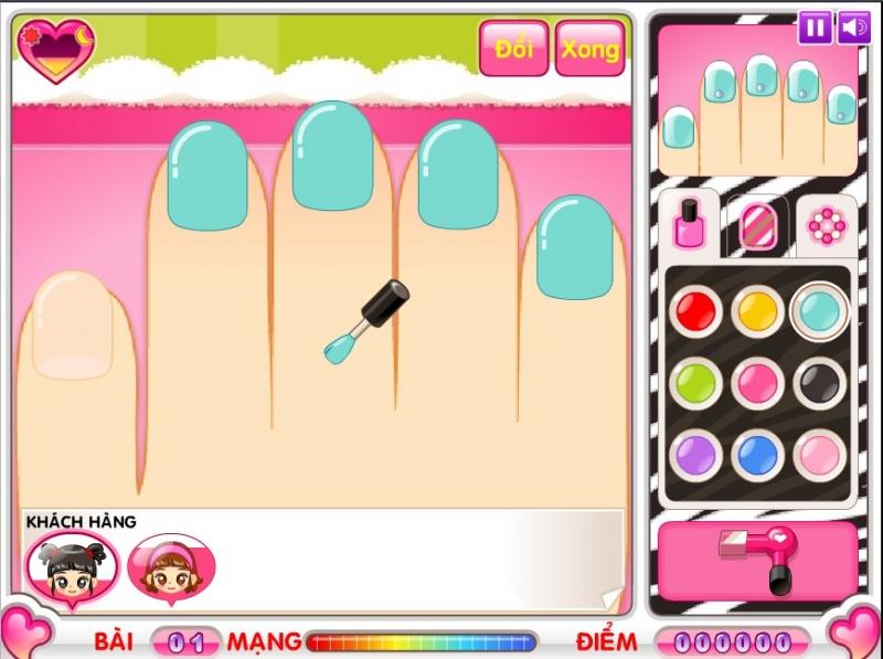 Hình ảnh trong game Cửa hàng làm Nail