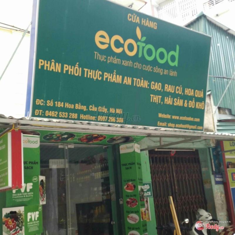1 góc cửa hàng thực phẩm an toàn Eco Food