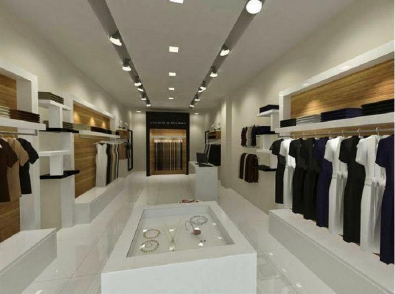 showroom bắt mắt, ấn tượng nhờ sử dụng trần thạch cao.