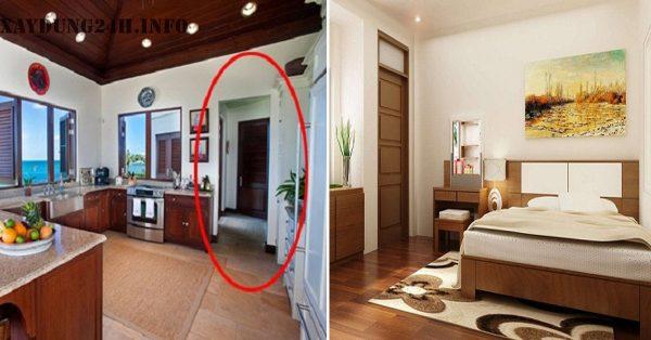 Cửa phòng ngủ không nên đối diện với nhà bếp hoặc tiếp giáp nhà bếp