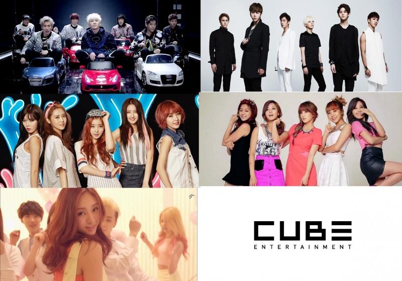 Các nhóm nhạc của Cube