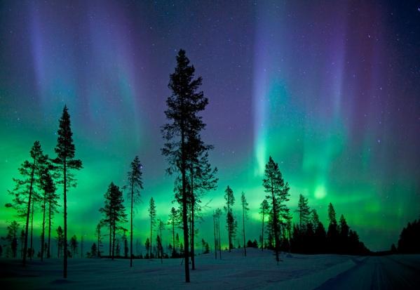 Cực quang tại Kiruna, Thụy Điển