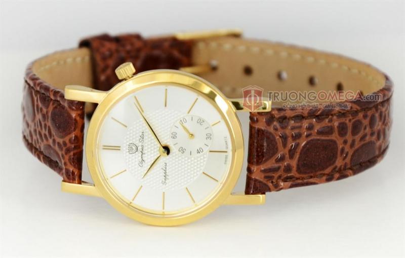 Đồng hồ OP với dây da mềm mại, mặt tròn rất hợp với Cự Giải