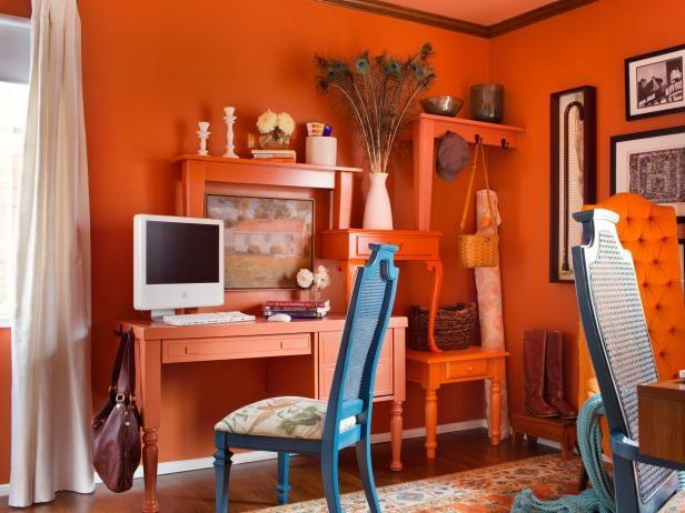 Sử dụng màu vàng cam để trang trí phòng làm việc sẽ giúp Ma Kết có thêm các cơ hội thăng tiến