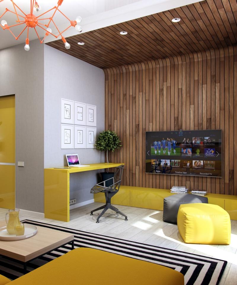 Nếu muốn gặp nhiều may mắn, Nhân Mã nên trang trí phòng làm việc với màu vàng chủ đạo