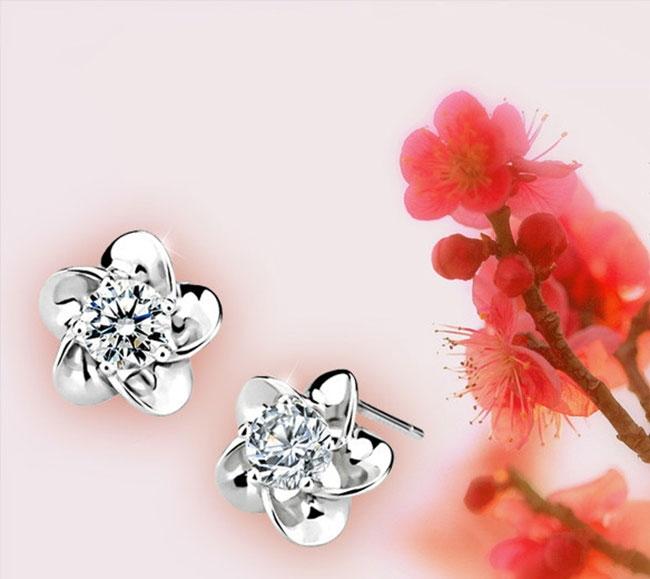 Đôi bông tai mạ bạc