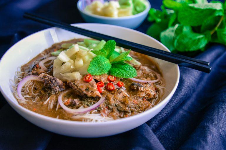 Curry laksa and Assam laksa