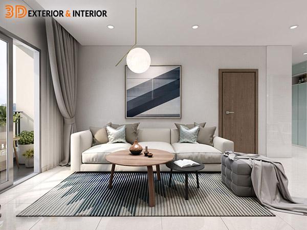 Nội thất phòng khách - thiết kế của 3D