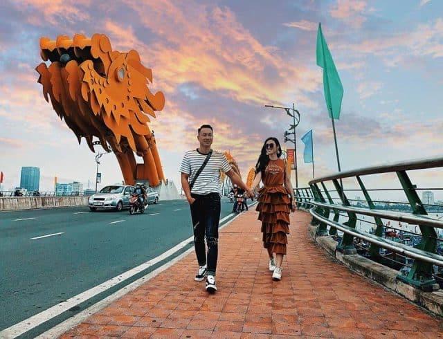 Cầu con rồng ở Đà Nẵng