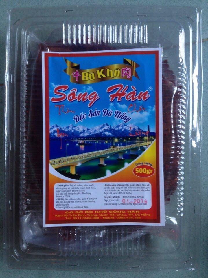 Đặc sản Bò khô sông Hàn - địa chỉ mua thịt bò khô ngon nhất Đà Nẵng