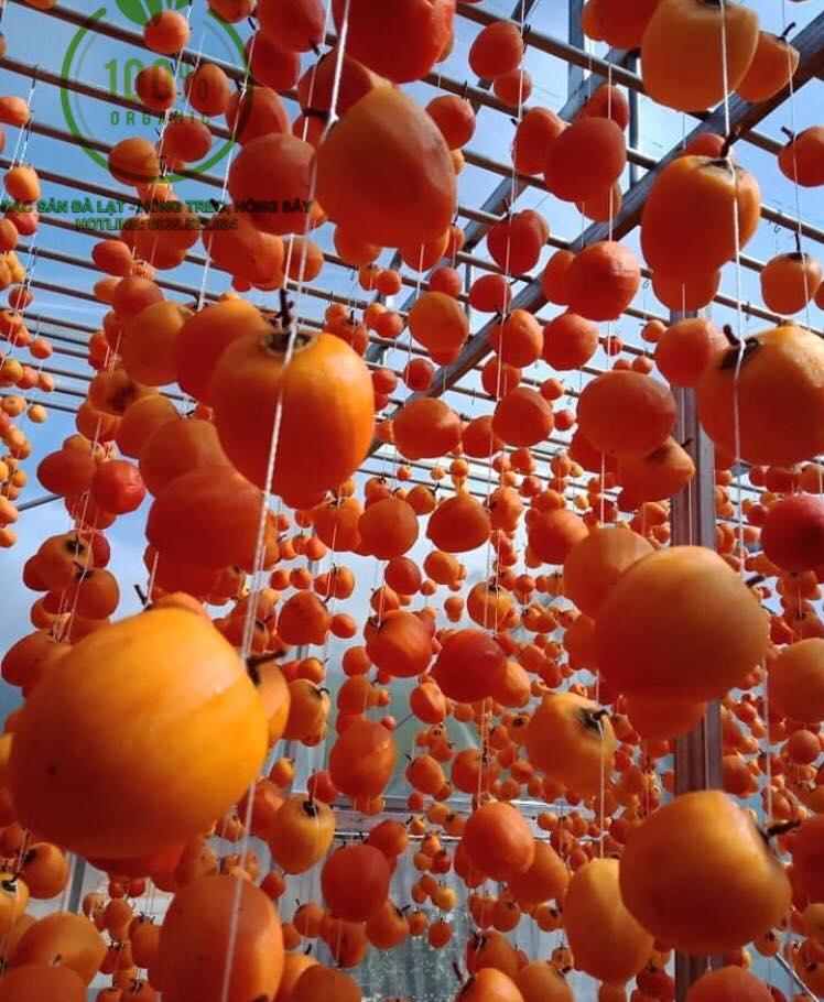 Đặc sản Đà Lạt - Hồng treo, Hồng sấy - Thực phẩm sạch Organic