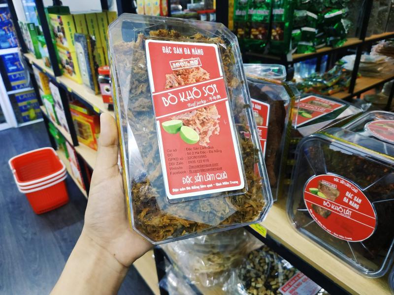 Đặc Sản Làm Quà - địa chỉ mua thịt bò khô ngon nhất Đà Nẵng