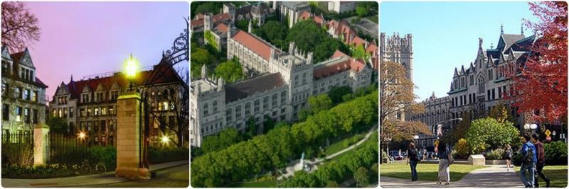 Một vài tòa nhà tại Đại học Chicago