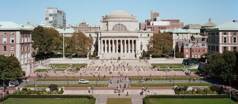 Khung cảnh tấp nập tại Đại học Columbia