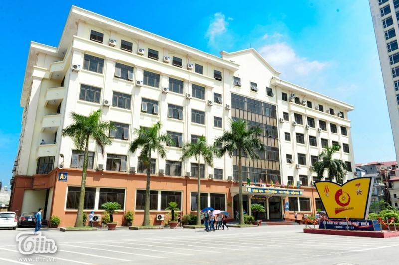 Một góc trường đại học Công nghiệp Hà Nội