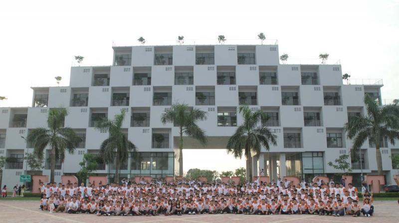 Ngôi trường với kiến trúc hiện đại