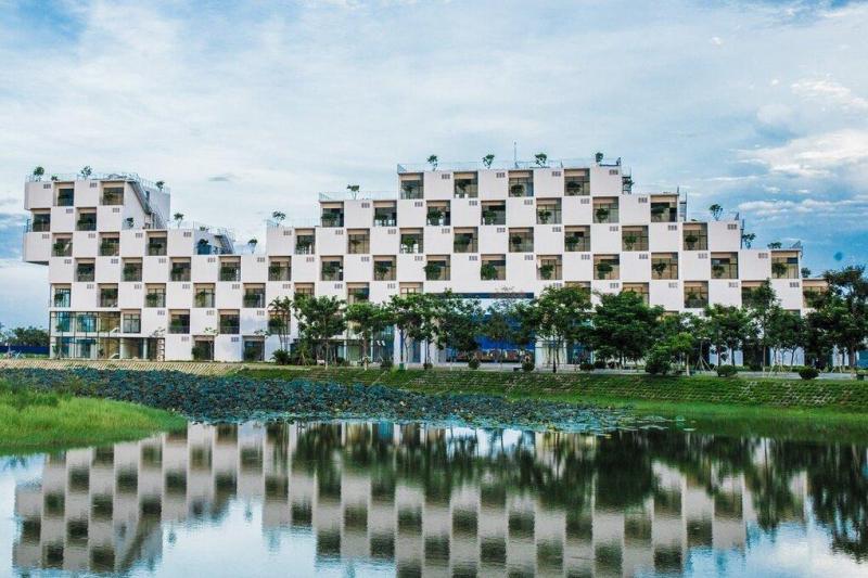Khu kí túc xá với kiến trúc độc đáo của Đại học FPT