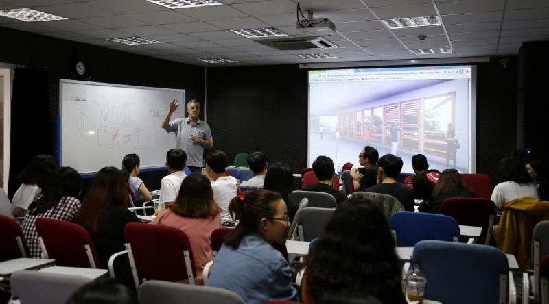 Workshop Kiến trúc nội thất cho vùng khí hậu nhiệt đới – Màn chắn nhiệt đới cho công trình tại cơ sở Cao Thắng.