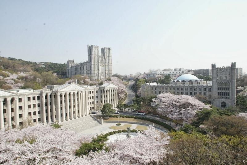 Khung cảnh tuyệt đẹp tại Đại học Kyung Hee.