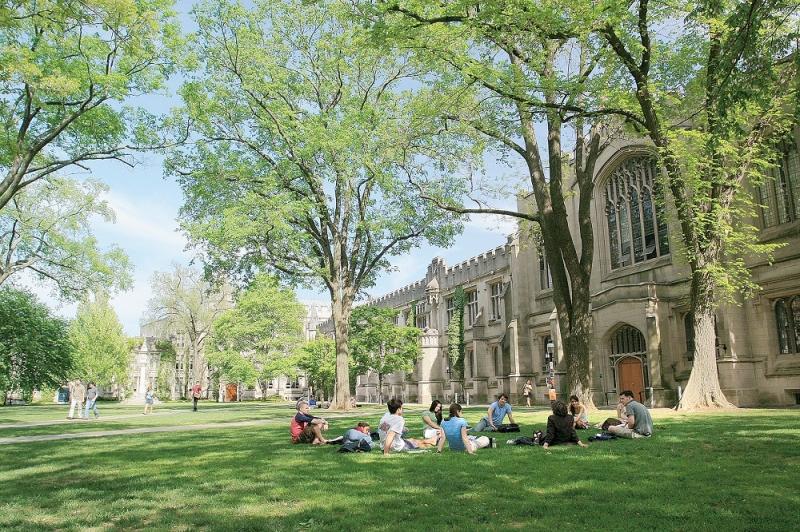 Khung cảnh trong lành và bình yên ở Đại học Princeton