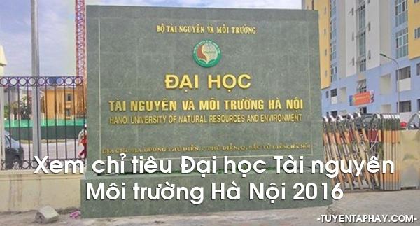 ĐH Tài Nguyên Môi Trường Hà Nội
