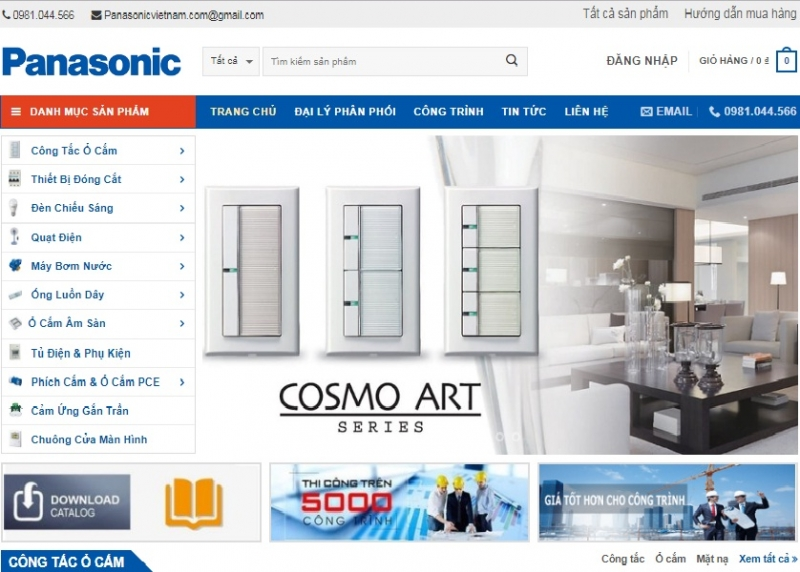 Website Đại lý phân phối thiết bị điện Panasonic tại Quảng Ninh