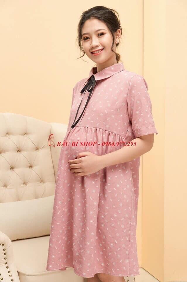Đầm bầu gam màu hồng trẻ trung