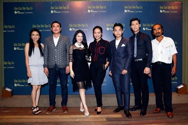 Phạm Hồng Phước và ekip dự buổi ra mắt phim