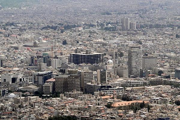 Toàn cảnh thành phố Damascus từ trên cao