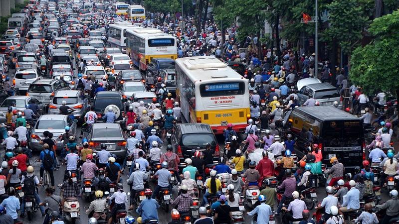 Dân cư ngày càng đông đúc