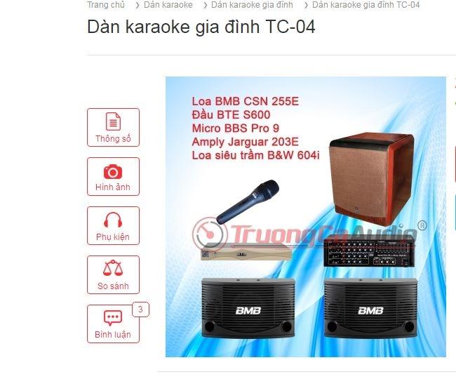 Dàn karaoke gia đình TC-04